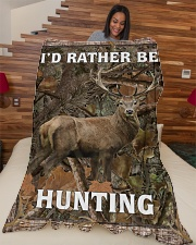 """I'd Rather Be Hunting Blanket - Love Hunting Large Fleece Blanket - 60"""" x 80"""" aos-coral-fleece-blanket-60x80-lifestyle-front-04"""