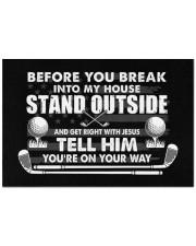 "Before You Break Into My House - Love Golf Doormat 22.5"" x 15""  front"