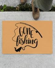 "Gone Fishing - Love Fishing Doormat 22.5"" x 15""  aos-doormat-22-5x15-lifestyle-front-01"