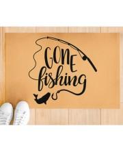 "Gone Fishing - Love Fishing Doormat 22.5"" x 15""  aos-doormat-22-5x15-lifestyle-front-03"