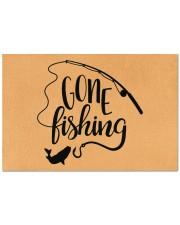 "Gone Fishing - Love Fishing Doormat 22.5"" x 15""  front"