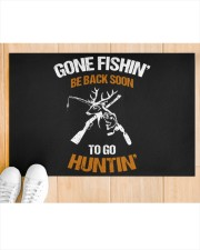 "Gone Fishing Be Back Soon To Go Hunting Doormat 22.5"" x 15""  aos-doormat-22-5x15-lifestyle-front-03"