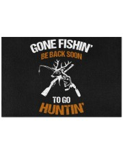 "Gone Fishing Be Back Soon To Go Hunting Doormat 22.5"" x 15""  front"