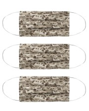 Silhouette Deer Camo - Love Fishing Cloth Face Mask - 3 Pack front