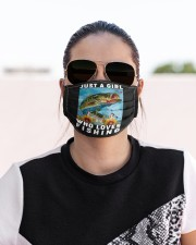 Just A Girl Who Loves Fishing - Love Fishing Cloth Face Mask - 3 Pack aos-face-mask-lifestyle-02