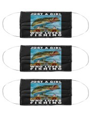 Just A Girl Who Loves Fishing - Love Fishing Cloth Face Mask - 3 Pack front