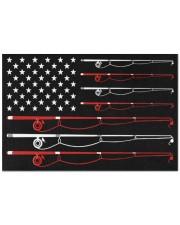"""Fishing Rod Flag Doormat 22.5"""" x 15""""  front"""