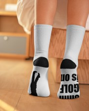 Shhh Golf Is On - Love Golf Crew Length Socks aos-accessory-crew-length-socks-lifestyle-back-01