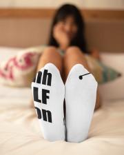 Shhh Golf Is On - Love Golf Crew Length Socks aos-accessory-crew-length-socks-lifestyle-back-02