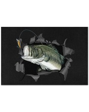 "Bass Fish Inside Doormat 22.5"" x 15""  front"