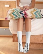 Fly Fishing - Love Fishing Crew Length Socks aos-accessory-crew-length-socks-lifestyle-front-01