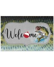 "Bass Fish - Love Fishing Doormat 22.5"" x 15""  front"