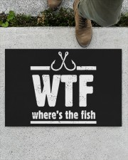 """Where's The Fish - Love Fishing Doormat 22.5"""" x 15""""  aos-doormat-22-5x15-lifestyle-front-01"""