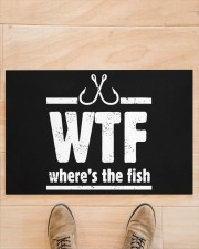 """Where's The Fish - Love Fishing Doormat 22.5"""" x 15""""  aos-doormat-22-5x15-lifestyle-front-02"""