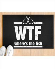 """Where's The Fish - Love Fishing Doormat 22.5"""" x 15""""  aos-doormat-22-5x15-lifestyle-front-03"""