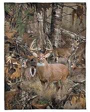 "Hunting Camo Small Fleece Blanket - 30"" x 40"" front"