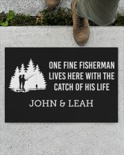 """Personalized Fishing - Fisherman Catch Of His Life Doormat 22.5"""" x 15""""  aos-doormat-22-5x15-lifestyle-front-01"""