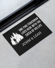 """Personalized Fishing - Fisherman Catch Of His Life Doormat 22.5"""" x 15""""  aos-doormat-22-5x15-lifestyle-front-09"""