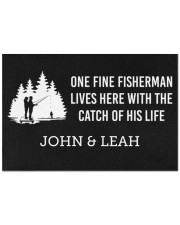 """Personalized Fishing - Fisherman Catch Of His Life Doormat 22.5"""" x 15""""  front"""