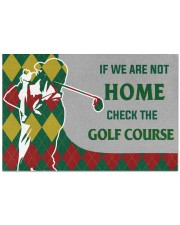 """If We Are Not Home Check The Golf House  Doormat 22.5"""" x 15""""  front"""