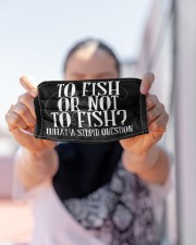 To Fish Or Not To Fish - Love Fishing Cloth Face Mask - 3 Pack aos-face-mask-lifestyle-07
