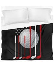 American Flag Golf - Love Golf Duvet Cover tile