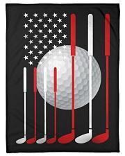 American Flag Golf - Love Golf Fleece Blanket tile