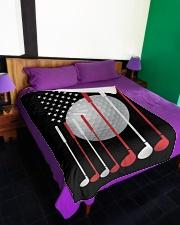 "American Flag Golf - Love Golf Large Fleece Blanket - 60"" x 80"" aos-coral-fleece-blanket-60x80-lifestyle-front-01"
