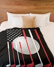 "American Flag Golf - Love Golf Large Fleece Blanket - 60"" x 80"" aos-coral-fleece-blanket-60x80-lifestyle-front-02"