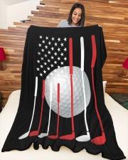 "American Flag Golf - Love Golf Large Fleece Blanket - 60"" x 80"" aos-coral-fleece-blanket-60x80-lifestyle-front-04a"