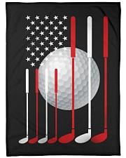 "American Flag Golf - Love Golf Large Fleece Blanket - 60"" x 80"" front"