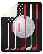 American Flag Golf - Love Golf Sherpa Fleece Blanket tile