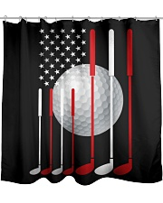 American Flag Golf - Love Golf Shower Curtain tile
