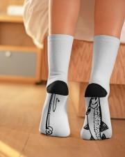 Fly Fishing - Love Fishing Crew Length Socks aos-accessory-crew-length-socks-lifestyle-back-01