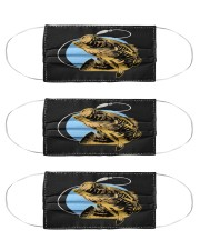 Black Bass Fish - Love Fishing Cloth Face Mask - 3 Pack front