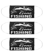 Gone Fishing Cloth Face Mask - 3 Pack front