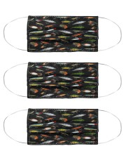 Fishing Lures - Love Fishing Cloth Face Mask - 3 Pack front