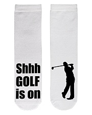 Shhh Golf Is On - Love Golf Crew Length Socks front