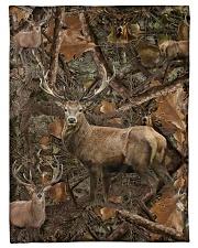 Hunting Camo - Love Hunting Fleece Blanket tile