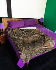 """Hunting Camo - Love Hunting Large Fleece Blanket - 60"""" x 80"""" aos-coral-fleece-blanket-60x80-lifestyle-front-01"""