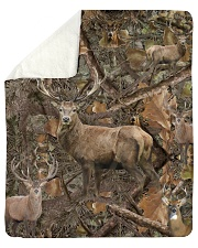 Hunting Camo - Love Hunting Sherpa Fleece Blanket tile
