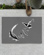 "Fishing Hook Inside - Love Fishing Doormat 22.5"" x 15""  aos-doormat-22-5x15-lifestyle-front-01"