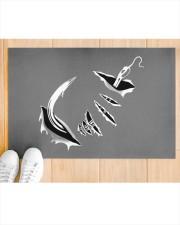 "Fishing Hook Inside - Love Fishing Doormat 22.5"" x 15""  aos-doormat-22-5x15-lifestyle-front-03"