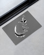 "Fishing Hook Inside - Love Fishing Doormat 22.5"" x 15""  aos-doormat-22-5x15-lifestyle-front-09"
