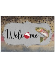 """Trout Fish - Love Fishing Doormat 22.5"""" x 15""""  front"""