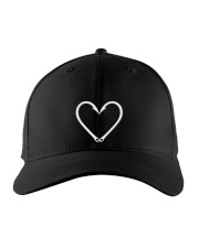 Fishing Hook Heart - Love Fishing Embroidered Hat front