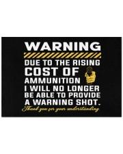 """Warning - Gun Lover Doormat 22.5"""" x 15""""  front"""