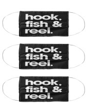Fish Hook And Reel - Love Fishing Cloth Face Mask - 3 Pack front