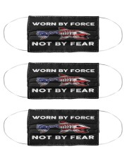 Worn By Force - Not By Fear - Love Fishing Cloth Face Mask - 3 Pack front