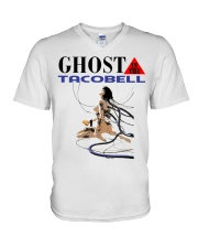 GHOST IN THE TACOBELL SHIRT V-Neck T-Shirt thumbnail